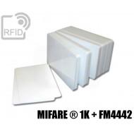 Tessere card doppia tecnologia MIFARE ® 1K + FM4442 1