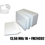 Tessere card doppia tecnologia 13,56 MHz 1K + FM24C02 1