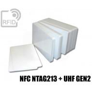 Tessere card doppia tecnologia NFC NTAG213 + H3 UHF