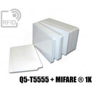 Tessere card doppia tecnologia Q5 T5555 + MIFARE ® 1K