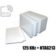 Tessere card doppia tecnologia 125 KHz + NTAG213