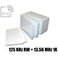 Tessere card doppia tecnologia 125 KHz RW + 13,56 MHz 1K