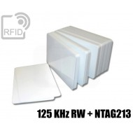 Tessere card doppia tecnologia 125 KHz RW + NFC NTAG213