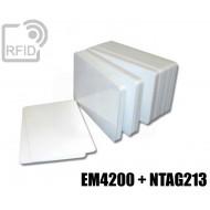 Tessere card doppia tecnologia NFC EM4200 + NTAG213