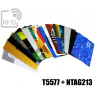 Tessere card stampate doppio chip NFC T5577 + NTAG213 1