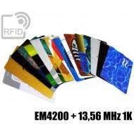 Tessere card stampate doppio chip EM4200 + 13,56 MHz 1K 1