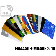 Tessere card stampate doppio chip EM4450 + MIFARE ® 1K 1
