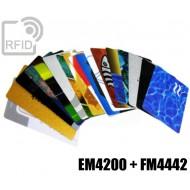 Tessere card stampate doppio chip EM4200 + FM4442