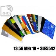 Tessere card stampate doppia tecnologia 13,56 MHz 1K + SLE55