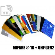 Tessere card stampate doppio chip MIFARE ® 1K + H3 UHF