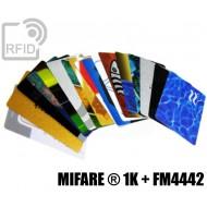 Tessere card stampate doppio chip MIFARE ® 1K + FM4442 1