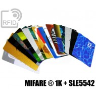 Tessere card stampate doppio chip MIFARE ® 1K + SLE5542 1