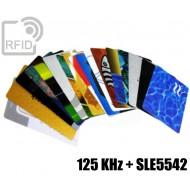 Tessere card stampate doppio chip 125 KHz + SLE5542