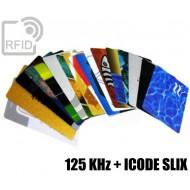 Tessere card stampate doppio chip 125 KHz + ICODE SLIX