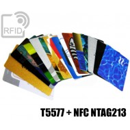 Tessere stampate 48H combo NFC T5577 + NFC NTAG213