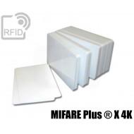 Tessere card bianche RFID MIFARE Plus ® X 4K