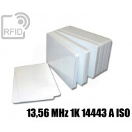 Tessere card bianche RFID 13,56 MHz 1K 14443 A ISO
