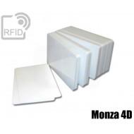 Tessere card bianche RFID Monza 4 - 4D