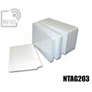 Tessere card bianche RFID NFC NTAG203