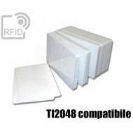 Tessere card bianche RFID NFC TI2048 compatibile