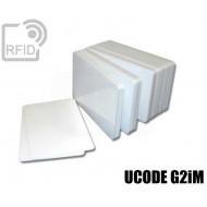 Tessere card bianche RFID UCODE G2iM 1