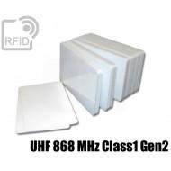 Tessere card bianche RFID UHF 868 MHz Class1 Gen2 1