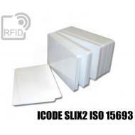 Tessere card bianche RFID ICODE SLIX2 ISO 15693