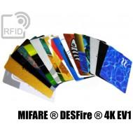 Tessere card personalizzate RFID NFC MIFARE ® DESFire ® 4K E 1