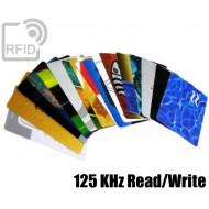 Tessere card personalizzate RFID 125 KHz Read/Write 1