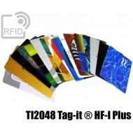 Tessere card personalizzate RFID NFC TI2048 Tag-it ® HF-I Pl 1