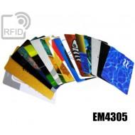 Tessere card personalizzate RFID EM4305