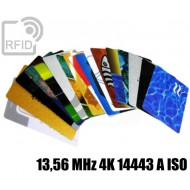 Tessere card personalizzate RFID 13,56 MHz 4K 14443 A ISO