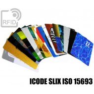 Tessere card personalizzate RFID ICODE SLIX ISO 15693 1
