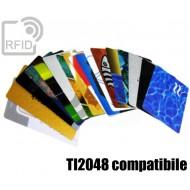 Tessere card personalizzate RFID NFC TI2048 compatibile 1