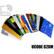 Tessere card personalizzate RFID UCODE G2XM 1