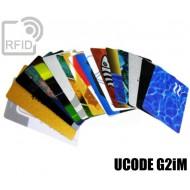 Tessere card personalizzate RFID UCODE G2iM 1