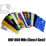 Tessere card personalizzate RFID UHF 868 MHz Class1 Gen2 1
