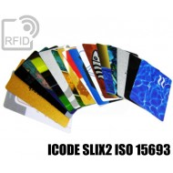 Tessere card personalizzate RFID ICODE SLIX2 ISO 15693 1