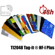 Tessere card stampa 48H RFID NFC TI2048 Tag-it ® HF-I Plus 1