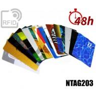 Tessere card stampa 48H RFID NFC NTAG203
