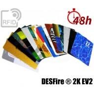 Tessere card stampa 48H RFID NFC DESFire ® 2K EV2