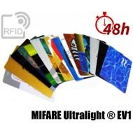 Tessere card stampa 48H RFID NFC MIFARE Ultralight ® EV1