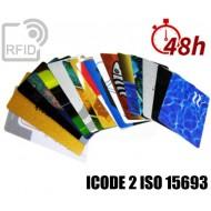 Tessere card stampa 48H RFID ICODE 2 ISO 15693 1