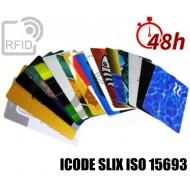 Tessere card stampa 48H RFID ICODE SLIX ISO 15693 1
