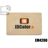 Tessere card in legno RFID EM4200 1