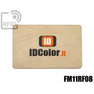 Tessere card in legno RFID FM11RF08 1