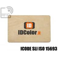 Tessere card in legno RFID ICODE SLI ISO 15693 1