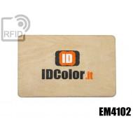 Tessere card in legno RFID EM4102 1
