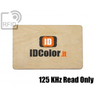 Tessere card in legno RFID 125 KHz Read Only