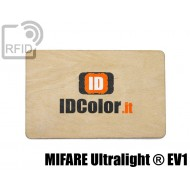 Tessere card in legno RFID NFC MIFARE Ultralight ® EV1 1